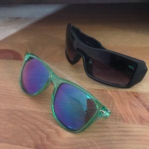 Pair of plastic sunglasses